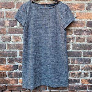 Zara Houndstooth Short Sleeve Mini Shift Dress